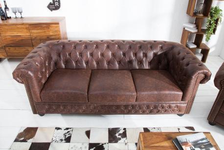 Sofa Chesterfield 3  skóra...