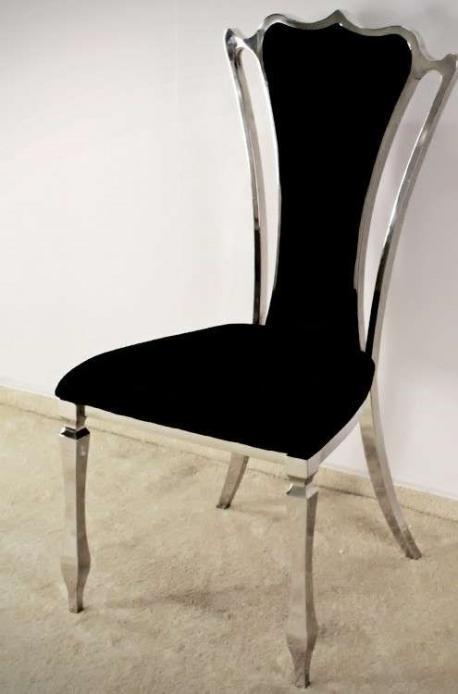 Krzesło Empire Silver Black