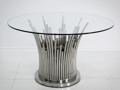 Stół Luxury Srebrny glamour...