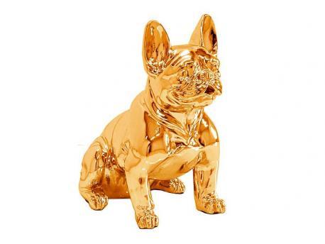 Figura buldog francuski złoty