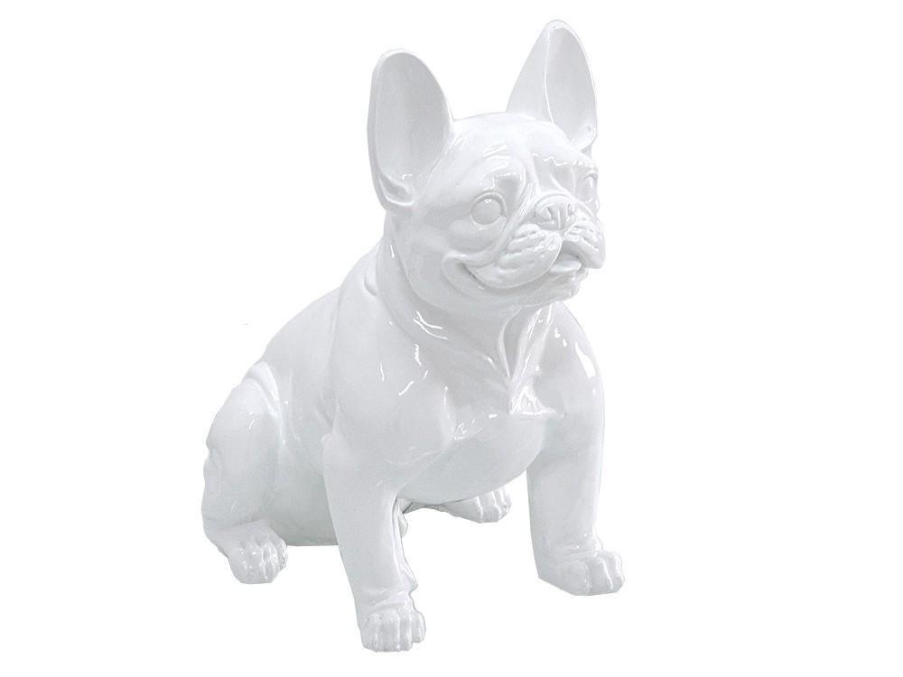 Figura buldog francuski biały