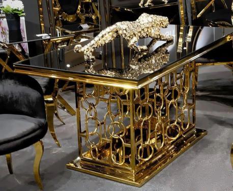 Stół Castle Złoto glamour C...