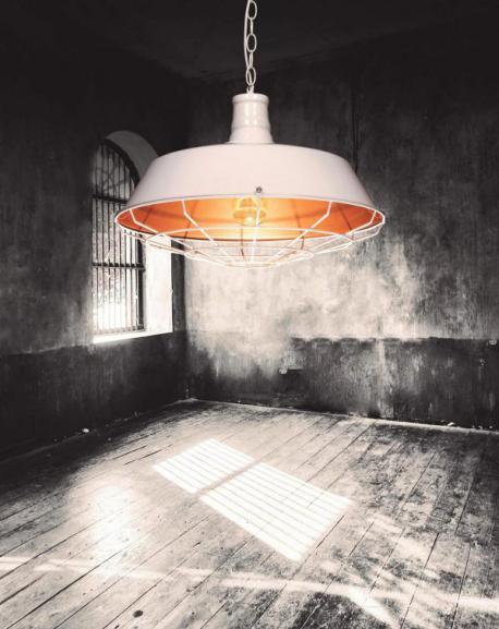 LAMPA WISZĄCA INDUSTRIALNA LOFT BIAŁA ARIGIO D45