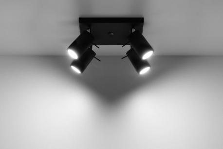 Reflektor RING 4 Czarny