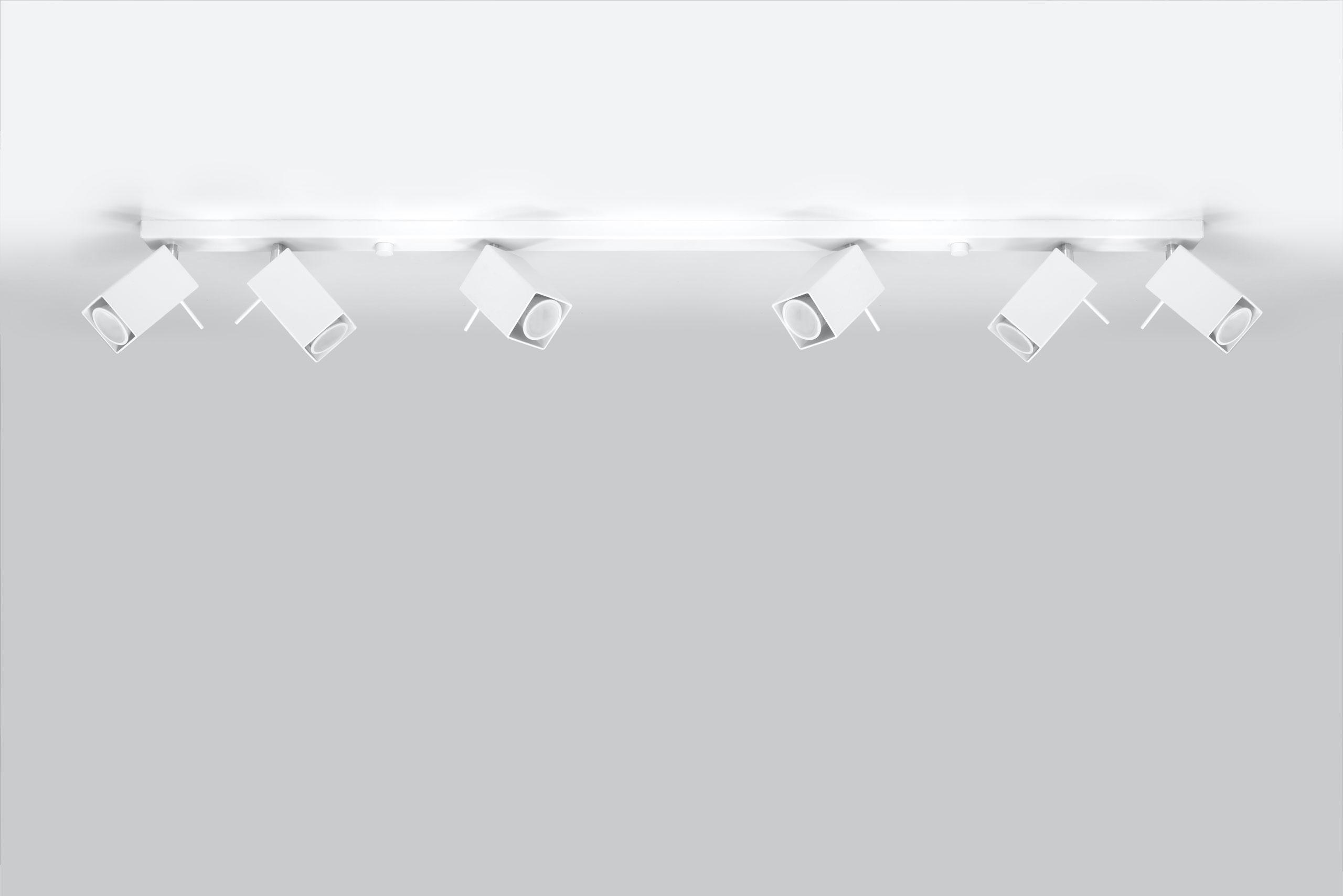 Plafon MERIDA 6L Biały