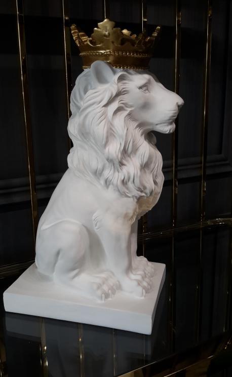 Figura lew biały