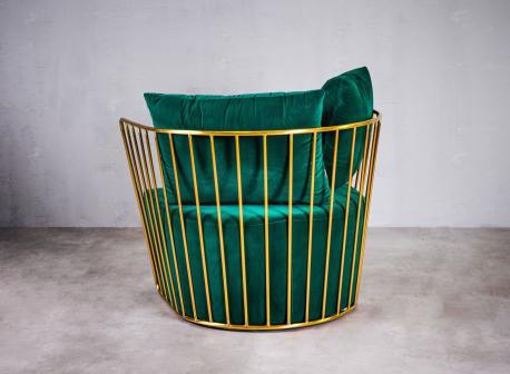 Fotel Royal zielony / GL