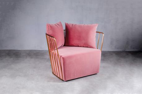 Fotel Royal różowy / GL
