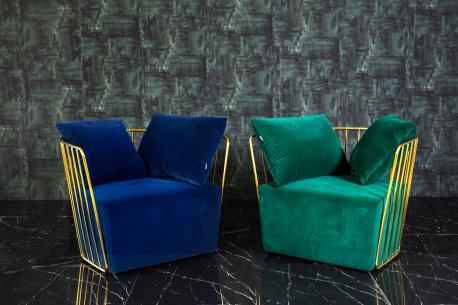 Fotel Royal niebieski / GL