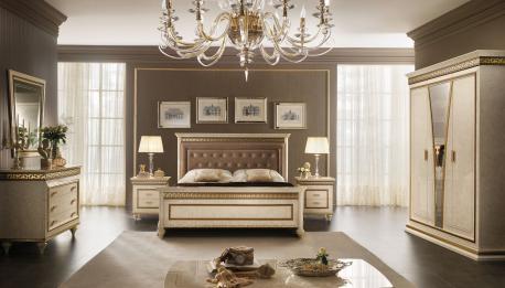 Włoskie tapicerowane łóżko...