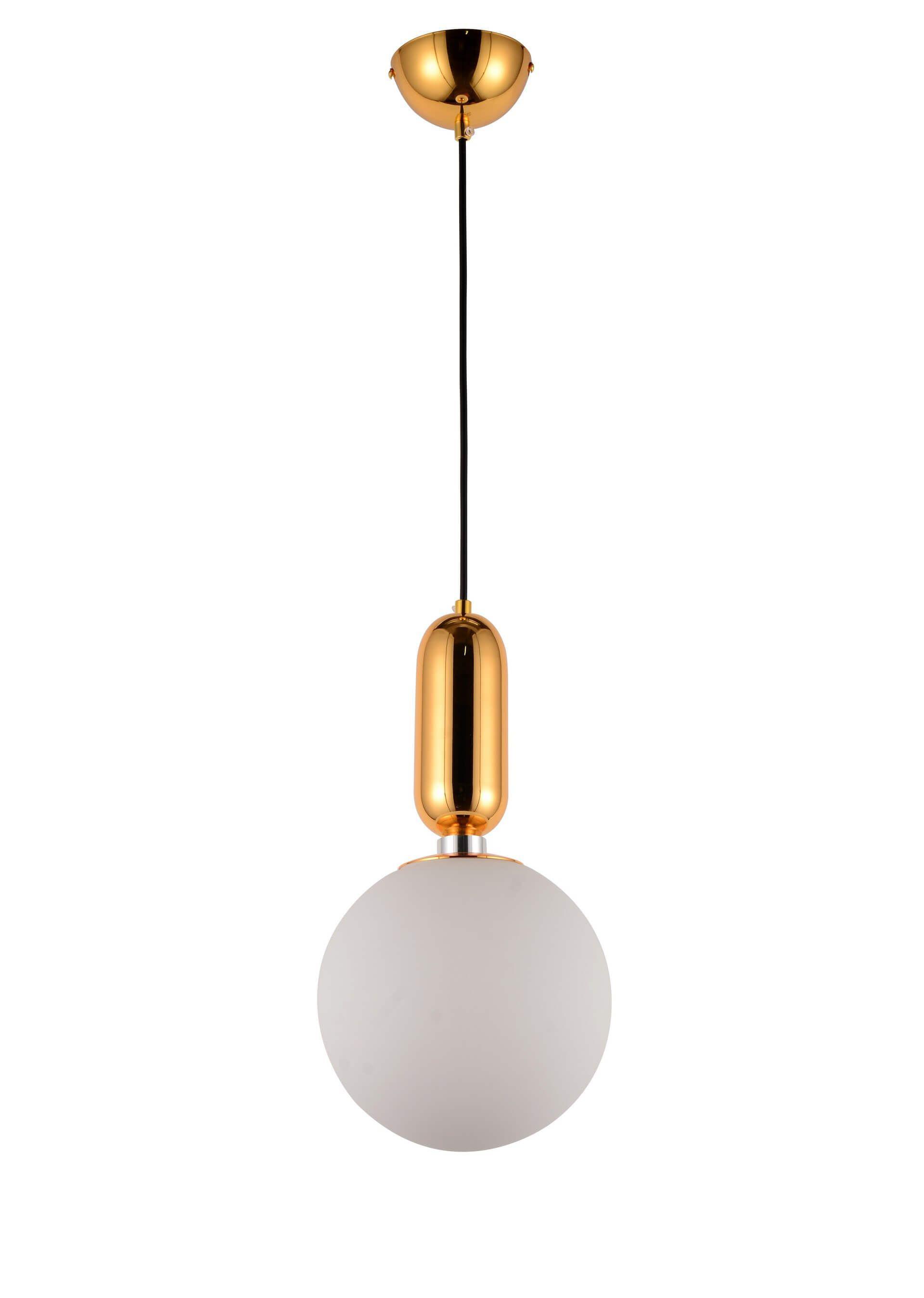 NOWOCZESNA LAMPA WISZĄCA BIAŁA ORITO GOLD D20