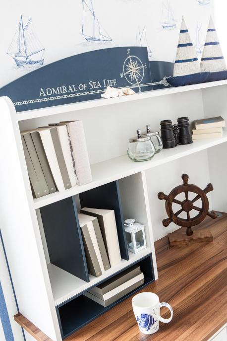 Admiral - biurko z nadstawką
